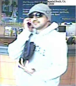 Imperial Beach, California Bank Robbery Suspect, Photo 4 of 5 (12/2/09)