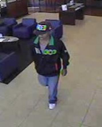 Houston Bank Robbery Suspect, Photo 1 of 3 (10/10/13)