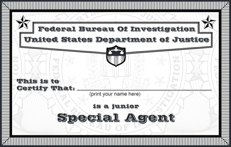 About the FBI: Junior Special Agent Credential