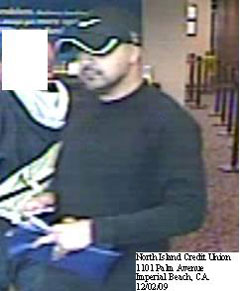 Imperial Beach, California Bank Robbery Suspect, Photo 1 of 5 (12/2/09)