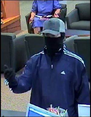 Norfolk Division Bank Robbery Suspect, Photo 2 of 3 (12/12/13)