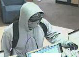 San Diego Bank Robbery Suspect, Photo 5 of 6 (1/25/13)