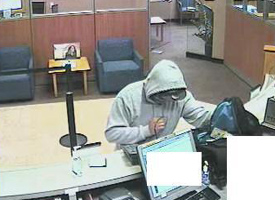 San Diego Bank Robbery Suspect, Photo 3 of 6 (1/25/13)