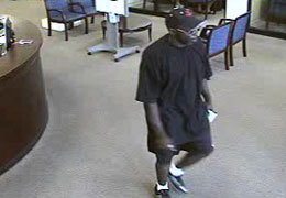 Bellaire, Texas Bank Robbery Suspect, Photo 1 of 4 (9/7/10)