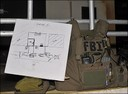 Guard Shack: FBI Gear and Sketch Related to Operation -