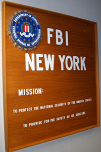 FBI New York Sign