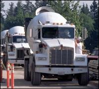 Cement mixing trucks