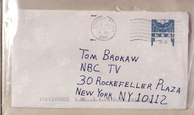 Amerithrax Investigation: Letter to Tom Brokaw