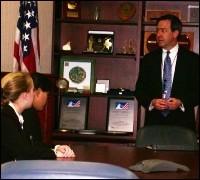 FBI executive Robert Casey, Jr. with college students