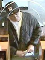 Old Bridge, New Jersey Bank Robbery Suspect, Photo 1 of 7 (10/8/13)