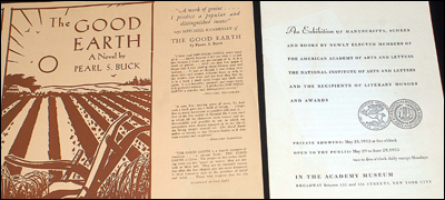 "Pearl S. Buck's Manuscript for ""The Good Earth"""