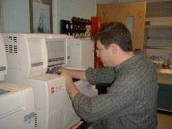 A photo of student in the  Visiting Scientist Program