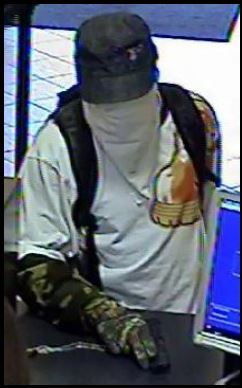 Norfolk Division Bank Robbery Suspect, Photo 3 of 3 (12/12/13)