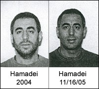 Photos of Mohammed Ali Hamadei in 2004 and 2005