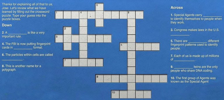 About the FBI: Crossword Puzzle