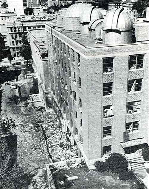 Sterling Hall after explosion
