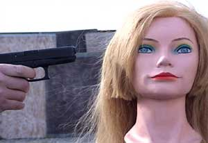 Figure 17 is a high-speed photograph showing the dynamics of the muzzle-gas effect on a mannequin's loose hair.