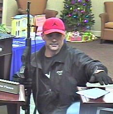 Gainesville Bank Robbery Suspect, Photo 1 of 2 (12/11/12)