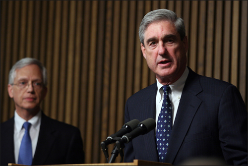 Director Mueller Speaks to Reporters at June 2008 Press Conference on Operation Cross Country