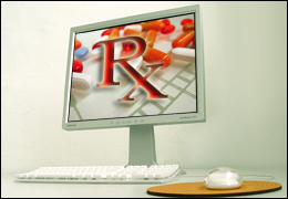 RX on Computer Screen (Stock Image)