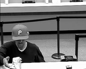Philadelphia Bank Robbery Suspect, Photo 3 of 3 (7/16/13)
