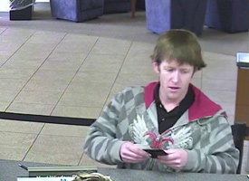 Knoxville Bank Robbery Suspect, Photo 3 of 4 (1/11/10)