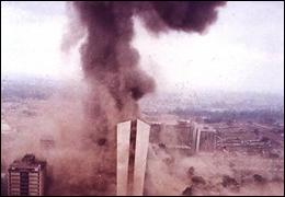 U.S. Embassy in Kenya Following Terrorist Attack on August 7, 1998