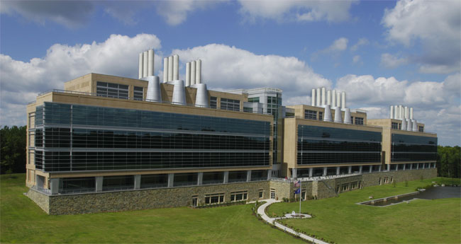 A photo of the new Laboratory building in Quantico, Virginia