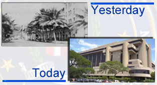 Graphic of Honolulu field office in the 30s and current