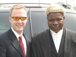 SSA Dale Miskell with a Nigerian prosecutor