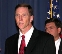 Deputy Director John Pistole at press conference