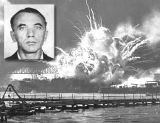 Pearl Harbor image with Bernard Kuehn inset