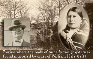 Osage Hills graphic with William Hale and Anna Brown