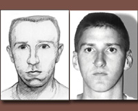 Sketch and photo of Timothy McVeigh