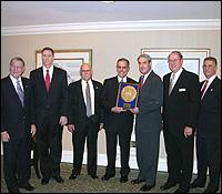 Robert Rieser recieving public service award