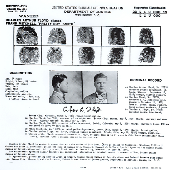 Identification Order No.1194 Pretty Boy Floyd