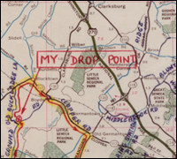 John Walker's dead drop map