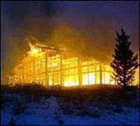 Vail ski resort in flames
