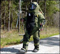 Bomb technicians are trained to recognize and disrupt all kinds of explosives, many modeled on devices used in real-life events.