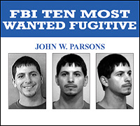 John W. Parsons wanted poster