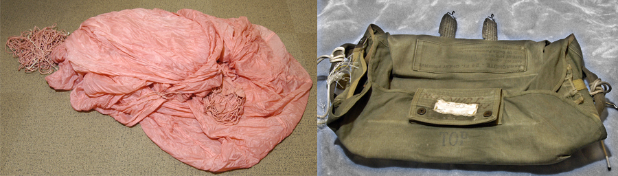 D.B. Cooper Case: Parachute and Canvas Bag High Resolution