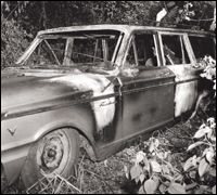 Burned Station Wagon in the 1964 Mississippi Burning Case