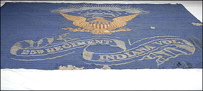 Recovered Civil War Flag