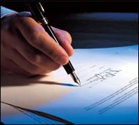 Signature on corporate document