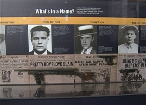 """Pretty Boy"" Floyd Display at Newseum"