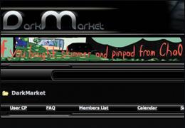 """Screen Capture of """"Dark Market"""" Website"""
