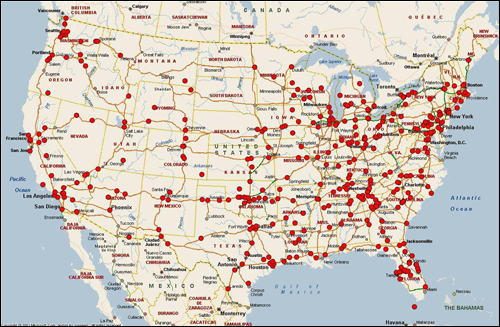 This map shows the more than 500 cases in our Highway Serial Killings Initiative database; the red dots mark where bodies or remains have been found along highways over the past 30 years.