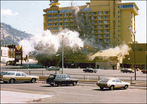 After authorities evacuated Harvey's casino and the surrounding area, experts attempted to disarm the bomb, but their efforts were unsuccessful, and the bomb exploded. Fortunately, no one was killed or injured in the blast.