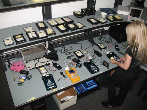 Electronic Media Awaiting Examination at Silicon Valley Regional Computer Forensics Laboratory
