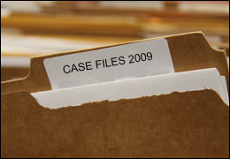 Folder with Case Files 2009 Label